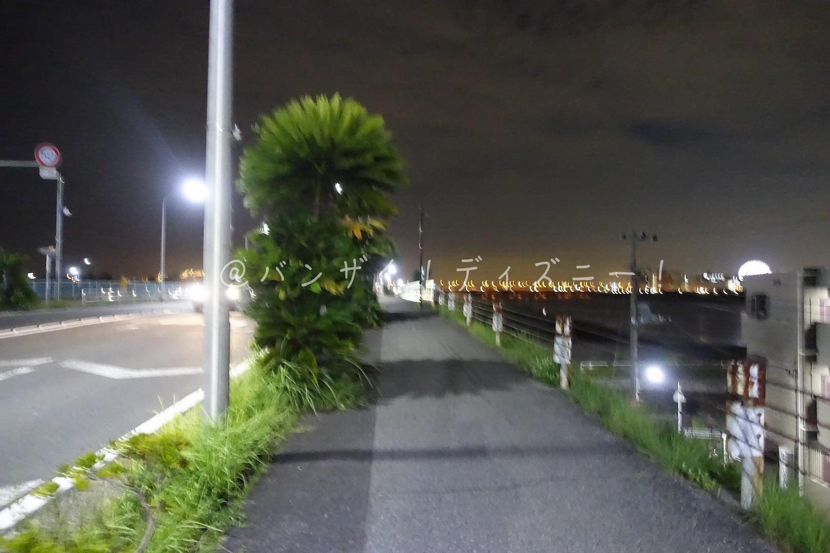 ディズニー外周ジョギング006回目!初めての夜ジョギング!今日は二回目!